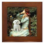 Ophelia's Maltese Framed Tile