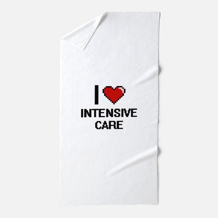 I Love Intensive Care Beach Towel