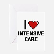 I Love Intensive Care Greeting Cards