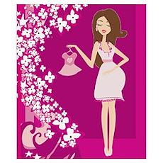 brunette pregnant Poster