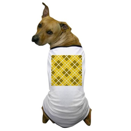 Mustard & Olive Diamonds Dog T-Shirt
