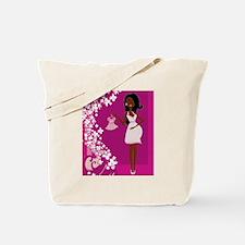 african american pregnant Tote Bag