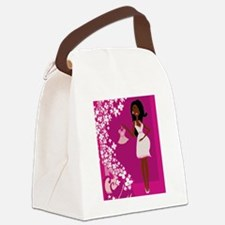 african american pregnant Canvas Lunch Bag