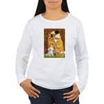 The Kiss / Maltese Women's Long Sleeve T-Shirt