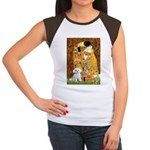 The Kiss / Maltese Women's Cap Sleeve T-Shirt