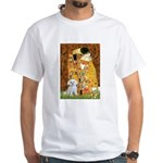 The Kiss / Maltese White T-Shirt