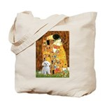 The Kiss / Maltese Tote Bag
