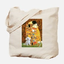 The Kiss / Maltese Tote Bag