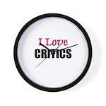 I Love CRITICS Wall Clock