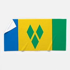 Saint Vincent Grenadines Flag Beach Towel