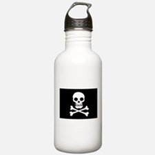 Pirate Flag Skull And Crossbones Water Bottle