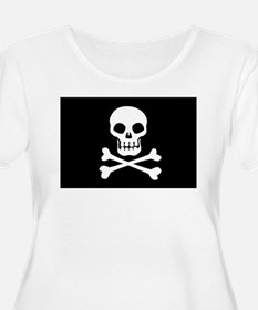 Pirate Flag Skull And Crossbones Plus Size T-Shirt