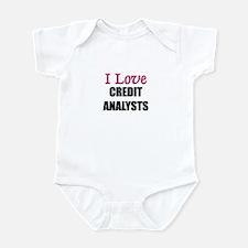 I Love CREDIT ANALYSTS Infant Bodysuit