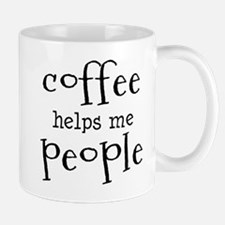 coffee helps me people Mug
