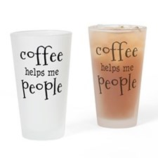 coffee helps me people Drinking Glass
