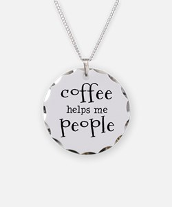coffee helps me people Necklace