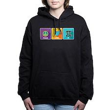 Peace, Love, Pi Women's Hooded Sweatshirt