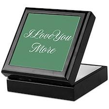 I Love You More Keepsake Box