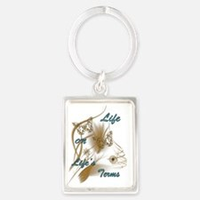 Life On Lifes Terms Portrait Keychain