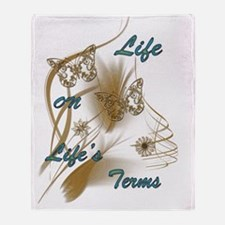 Life On Lifes Terms Throw Blanket