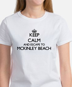 Keep calm and escape to Mckinley Beach Wis T-Shirt