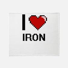 I Love Iron Throw Blanket