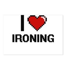 I Love Ironing Postcards (Package of 8)