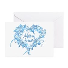 BP Blue Heart Maid of Honor Greeting Cards (10 Pk)