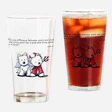 KiniArt Saint & Sinner Drinking Glass