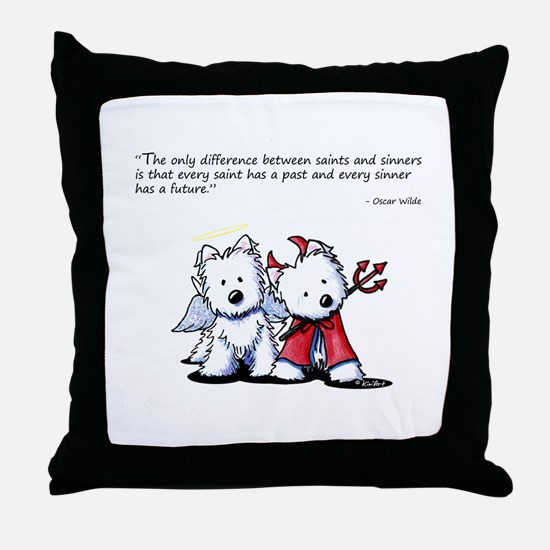 KiniArt Saint & Sinner Throw Pillow