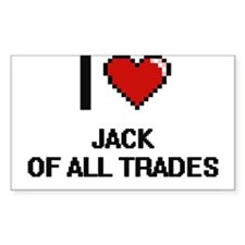 I Love Jack Of All Trades Decal