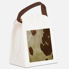 Cow Hide Canvas Lunch Bag