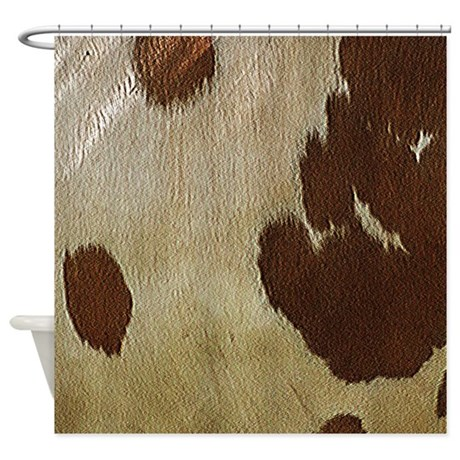 Cow Hide Shower Curtain By Hopeshappyhome