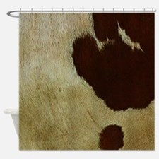 antique cow hide Shower Curtain