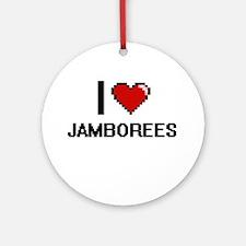 I Love Jamborees Ornament (Round)