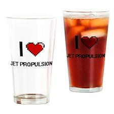 I Love Jet Propulsion Drinking Glass