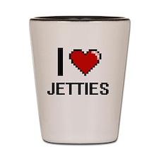 I Love Jetties Shot Glass