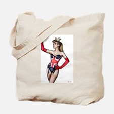 British Lady in Corset Tote Bag