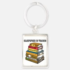 Philosopher in Training Portrait Keychain