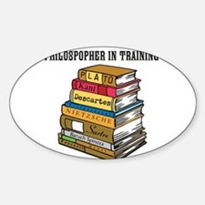 Philosopher in Training Sticker (Oval)