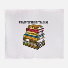 Philosopher in Training Throw Blanket