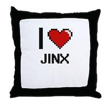 I Love Jinx Throw Pillow
