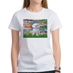 Lilies (2) & Maltese Women's T-Shirt