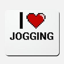 I Love Jogging Mousepad