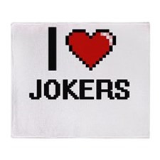 I Love Jokers Throw Blanket