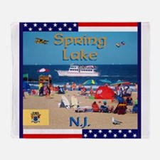 Spring Lake NJ Throw Blanket