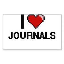 I Love Journals Decal