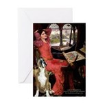 Lady & Boxer Greeting Card