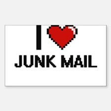 I Love Junk Mail Decal