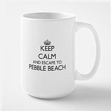 Keep calm and escape to Pebble Beach Californ Mugs